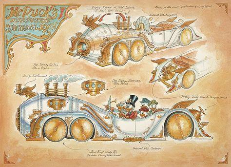 Steampunk Tendencies | McDucks-Steam-Powered-Time-Travel-Sedan-mechanical-kingdoms
