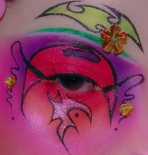 Punk Makeup, Sfx Makeup, Makeup Set, Makeup Inspo, Makeup Inspiration, Black Girl Makeup, Girls Makeup, Adventure Time, Alternative Makeup