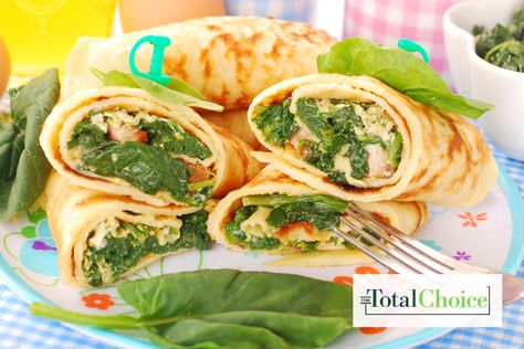 Total Choice Egg Spinach Wrap: Fuel up and stay full all morning long. Enjoy this recipe on the Total Choice 1200-calorie plan.