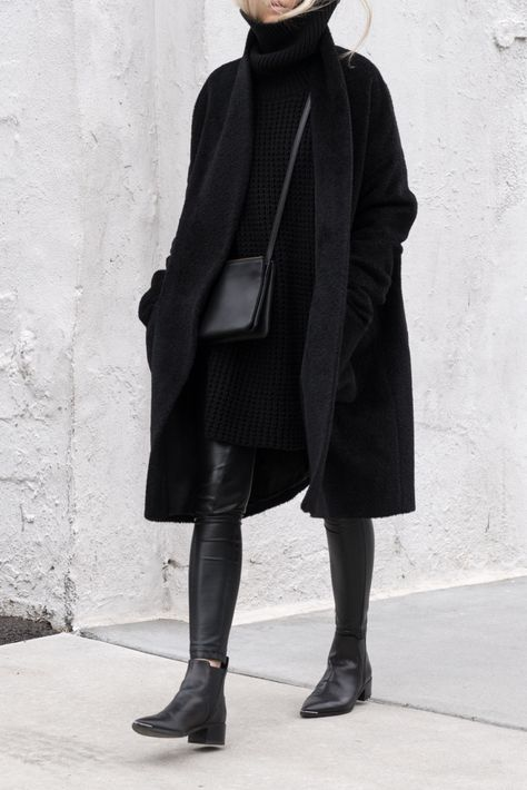 Great ribbing sweater figtny.com   All Black Everything