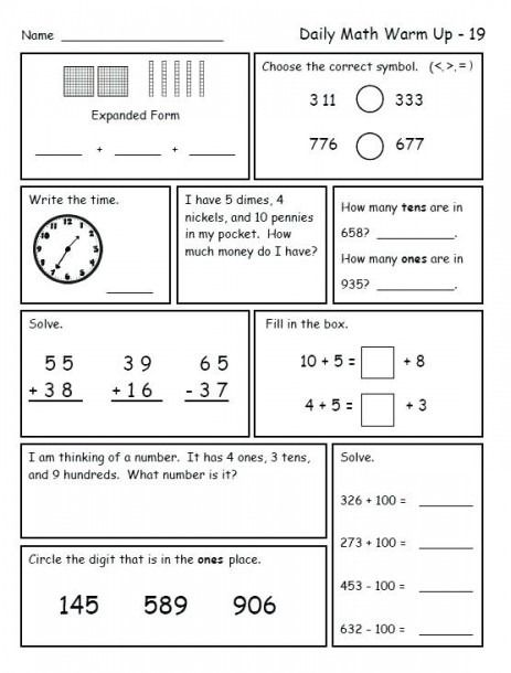 Grade 8 Math Worksheets To Print Out 2nd Grade Math Worksheets Daily Math 2nd Grade Math