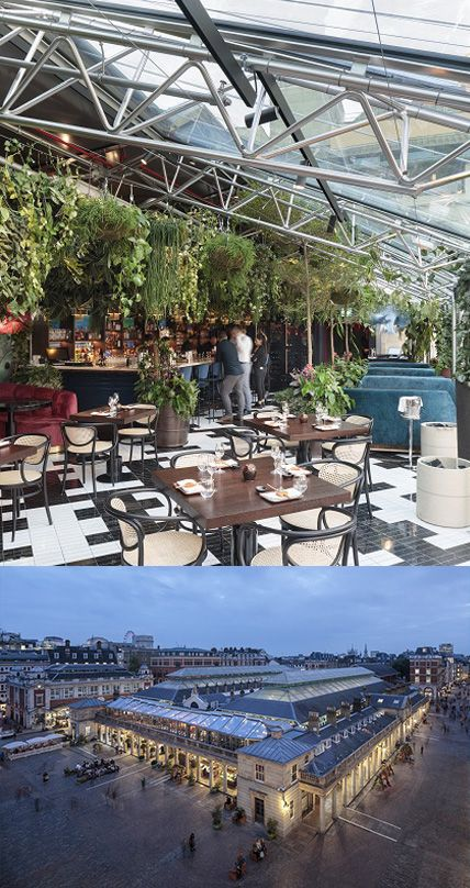 Iconic Covent Garden Glass Roof Design Can Be Shaded And Beautiful Roof Design Hopkins Architects Rooftop Restaurant