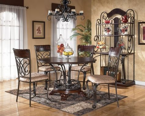 ashley furniture kitchen table and chairs outdoor recliner uk tables alyssa round set dinettes
