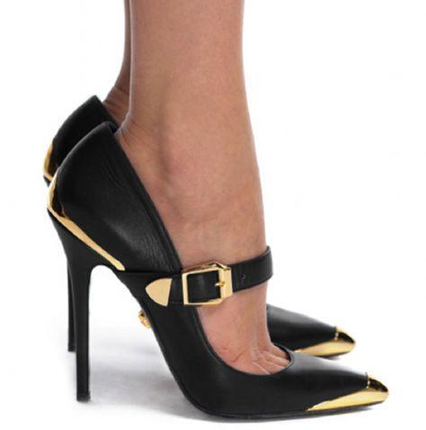 Versace Black Mary Jane Pump