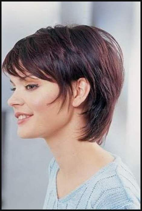 Damen Frisuren Halblang Frisur Pinterest Frisuren Halblang Einfache Frisuren Short Hair Syles Short Hair With Bangs Short Hair Styles
