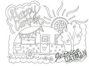 Image Result For Happy Camper Coloring Pages Ausmalbilder Stickmotive Wenn Du Mal Buch