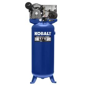 Kobalt 60 Gallon Two Stage Electric Vertical Air Compressor Lowes Com Vertical Air Compressor Air Compressor Electric Air Compressor