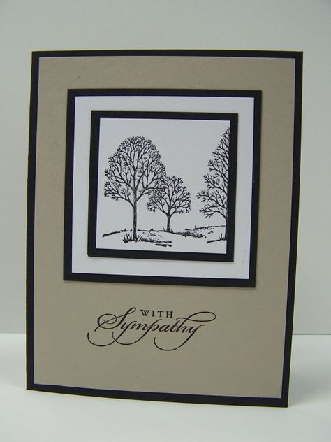 Stampin Up Handmade Greeting Card Sympathy by DawnsGreetingCards, $3.50