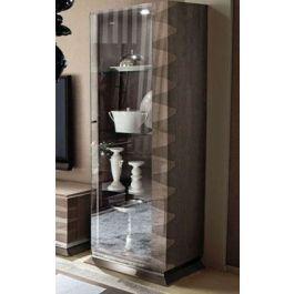 Monaco 1 Door Curio Right Side Alf Da Fre Curio Tall Cabinet Storage Cabinet Styles