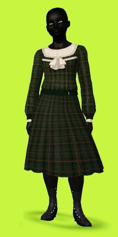 Sims during the centuries — Edwardian Teen Fashion