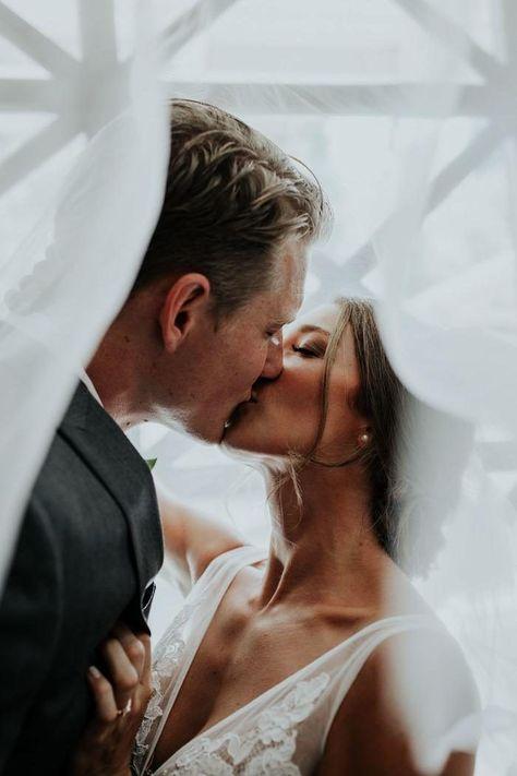Steel Blue and Blush California Wedding at McCloud Guest House | Junebug Weddings