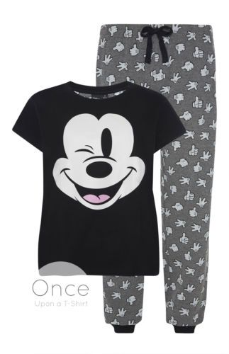 Disney Mickey Minnie Mouse Ladies Christmas T-Shirt Tee Top Womens XS-XL Primark