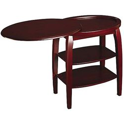 End Tables Designs Cherry End Table With Swivel Extension Oval Shapw Top Wooden Material Brown Var With Images Cherry End Tables End Tables With Storage Chair Side Table