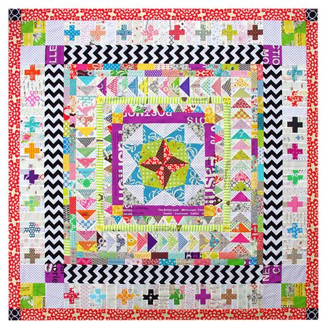 what a difference fabric choice makes: Red Pepper Quilts: Marcelle Medallion Quilt - part 3