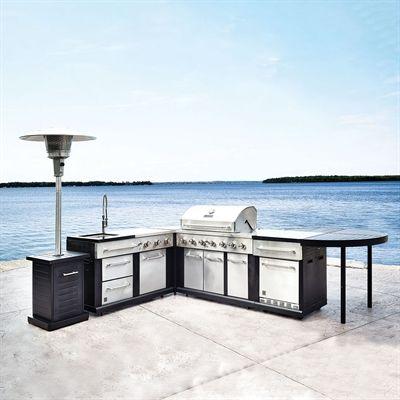 5 Piece Modular Outdoor Kitchen Set Modular Outdoor Kitchens Outdoor Kitchen Outdoor Patio Decor