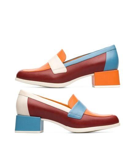 Zapatos de salón de mujer Camper twins multicolor | confort