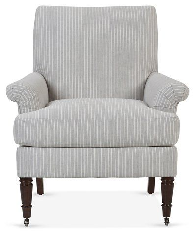 one kings lane avery roll arm accent chair gray furniture rh pinterest com au