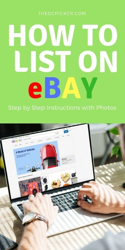 How To List On Ebay Step By Step Using The App Using The Ebay App Is Easy And Listing Can Be Done From A Ebay Business Ebay Selling Tips Ebay Selling
