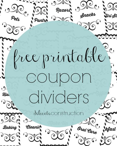 Free Coupon Binder Printables, Coupon Organization Video + More - coupon template free