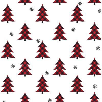 Nextwall Red And Black Plaid Pines Peel And Stick Wallpaper Covers 30 75 Sq Ft Nw41101 The Home Depot Peel And Stick Wallpaper Temporary Decorating Red And Black Plaid
