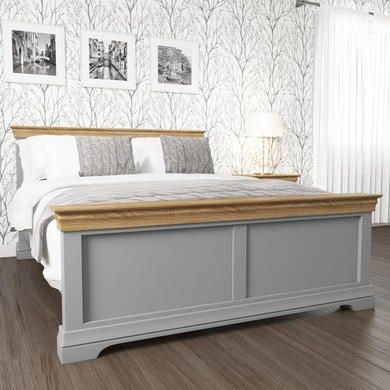 Buy Loire Grey And Oak Kingsize Bed Frame From Furniture123 The