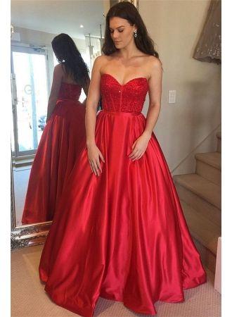 Abendkleid Rot Floor Length Prom Dresses A Line Prom Dresses Prom Dresses Uk