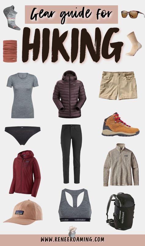 Hiking Clothes Women, Hiking Gear Women, Best Hiking Gear, Best Hiking Shoes, Thru Hiking, Hiking Tips, Cute Hiking Outfit, Summer Hiking Outfit, Outfit Winter