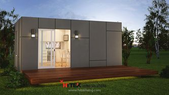 Granny Flat 1 Bedroom And Bathroom Rennes Design Prefab Container Homes Granny Flat Container House Plans