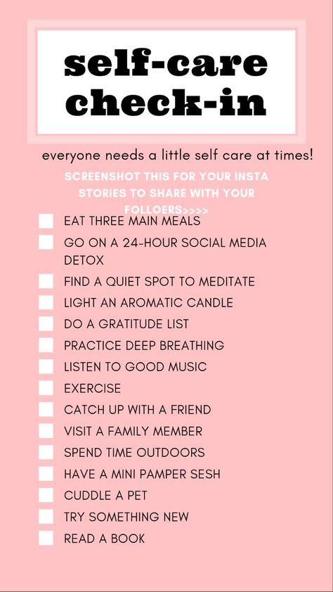 Self Care Check-in