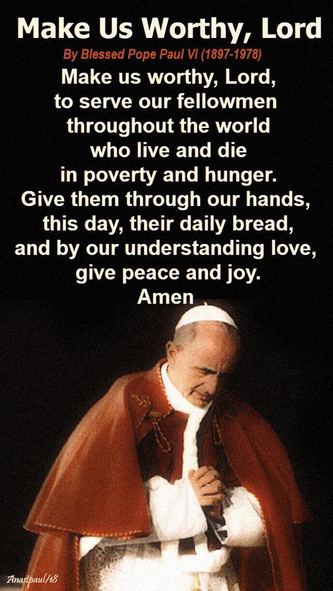 Our Morning Offering – 26 September – The Memorial of Blessed Pope ...