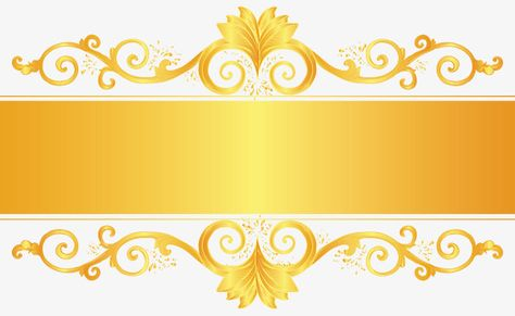 Golden ornate frame, Frame, Text Box, Title PNG and Vector