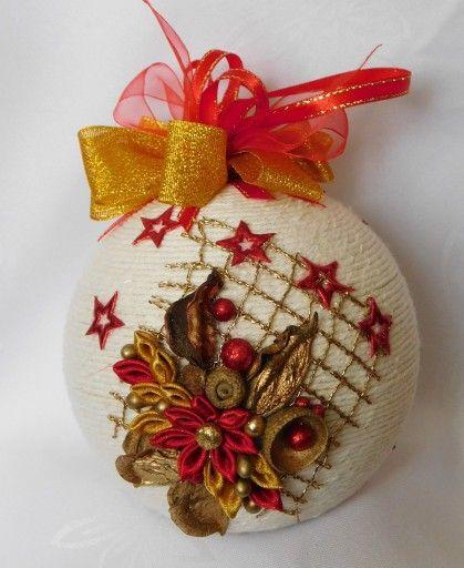 Bombka Sznurkowa Na Choinke Prezent Rekodzielo 8098311932 Oficjalne Archiwum Allegro Christmas Ornaments Christmas Bulbs Holiday Decor