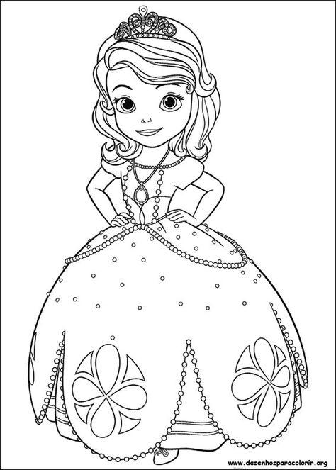 Desenho Para Imprimir Princesa Sofia Para Colorir Desenhos