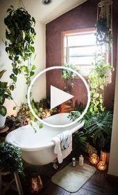 屋内植物とインテリアデザイン 浴室の緑の植物 2020 屋内植物