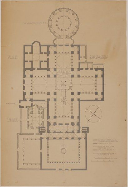 Plan Of The Holy Apostles Complex Dumbarton Oaks How To Plan Plan Sketch Complex