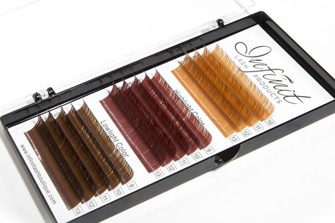 787caf3560a Mixed C-Curl Brown Synthetic Mink Eyelash Extension Tray by INFINIT | 14  Rows of Diverse Brown Colors and Sizes - Thickness: 0.15mm | For Individual  Lash ...