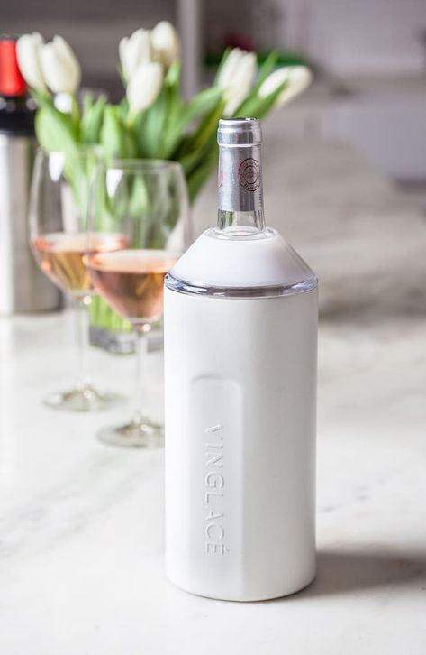Keep a bottle of wine or bubbly perfectly chilled for hours in this vacuum-insulated, stainless-steel canister with a choice of finishes.