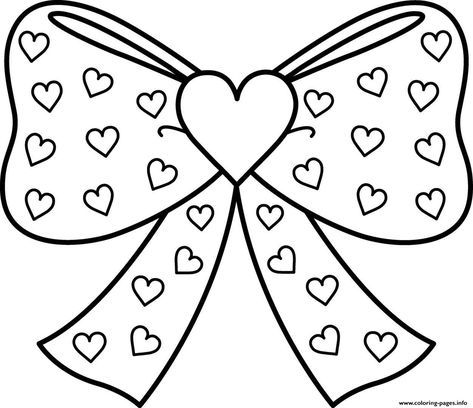 Print Excellent Bows Jojo Siwa Coloring Pages Heart Coloring