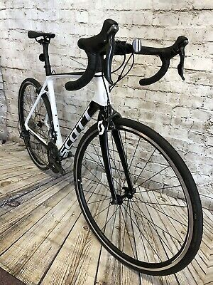 Ad Ebay Link Scott Addict 30 Carbon Road Bike Size 54cm Medium In 2020 Carbon Road Bike Road Bike Mountain Bike Handlebars