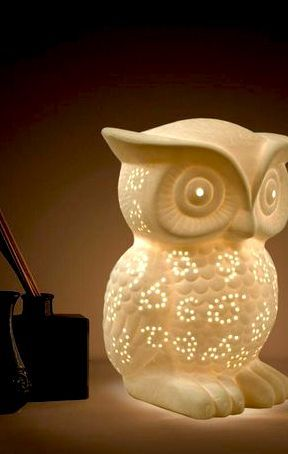 Simple Designs 9 84 In White Porcelain Wise Owl Shaped Table Lamp Lt3027 Wht The Home Depot Owl Table Lamp Decor Simple Designs