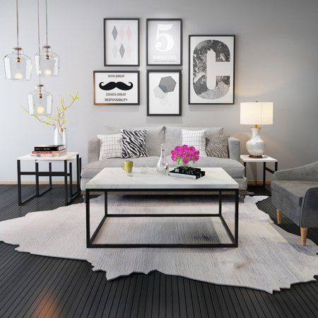 Home Coffee Table Metal Frame Interior Design Living Room Table Furniture