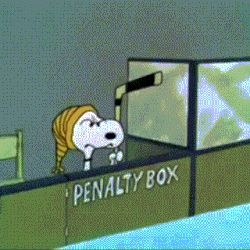 Snoopy yells while sitting in a penalty box at a hockey game during an episode of Peanuts. Snoopy Love, Charlie Brown And Snoopy, Snoopy And Woodstock, Montreal Canadiens, Quotes Girlfriend, Hockey Girlfriend, Blackhawks Hockey, Hockey Goalie, Hockey Drills