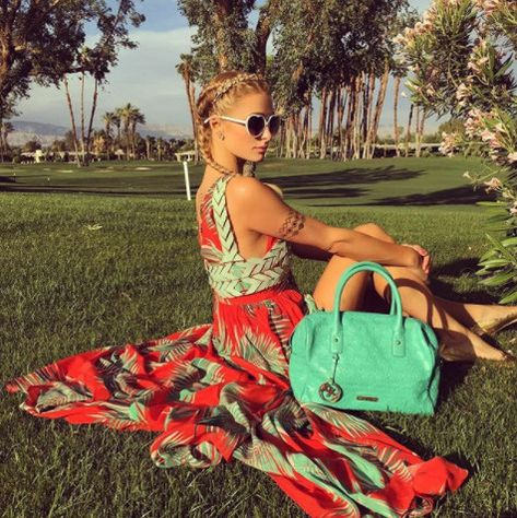 Breaking Out Her Inner Flower Child On The Road To 'Chella 2016 - Paris Hilton's Most Daring Festival Fashion Moments - Photos
