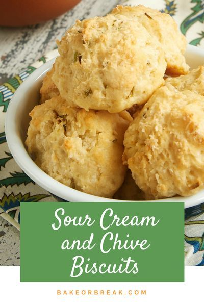 Sour Cream And Chive Biscuits Recipe In 2020 Homemade Biscuits Savoury Biscuits Biscuit Bake