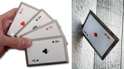 Live Out Your Gambit Fantasies With a Set of Sharpened Steel Throwing Cards Coolest Weapons ever!