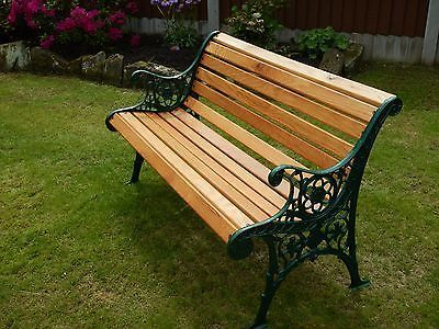 Vintage Cast Iron Garden Bench Complete With New American Light Oak Slats Ebay Cast Iron Garden Bench Outdoor Wood Furniture Garden Bench Seating