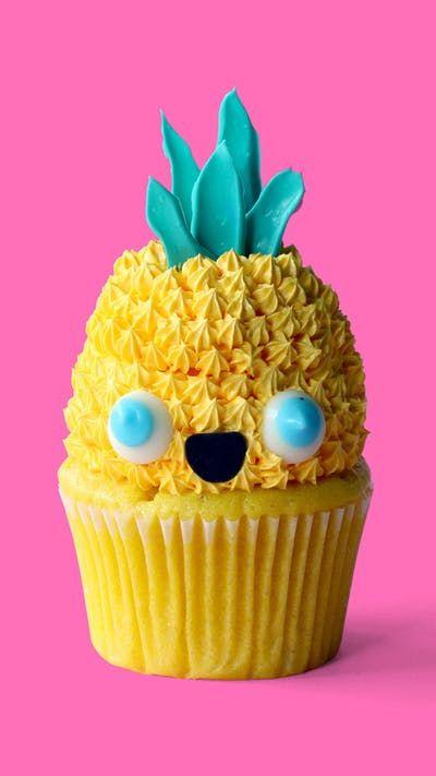 Kawaii Hawaii Cupcakes Recipe With Images Hawaii Cupcakes
