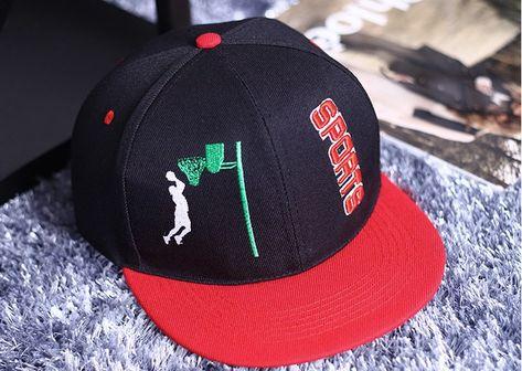 2ceeba66b29 Konoha Stuff  konohastuff · Slam Dunk Brand Logo Basketball Sports Black Cap  Baseball Hat Snapback