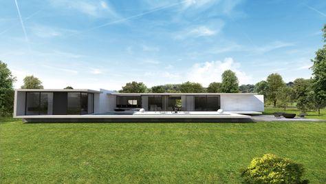 Maison contemporaine d\u0027architecte - Lyon - a2-sb Construire