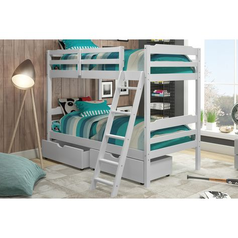 Www Wayfair Com Viv Rae Brian Twin Bunk Bed With Drawers Vvro5469 Html Bunk Beds With Storage Bunk Beds Bunk Bed Sets